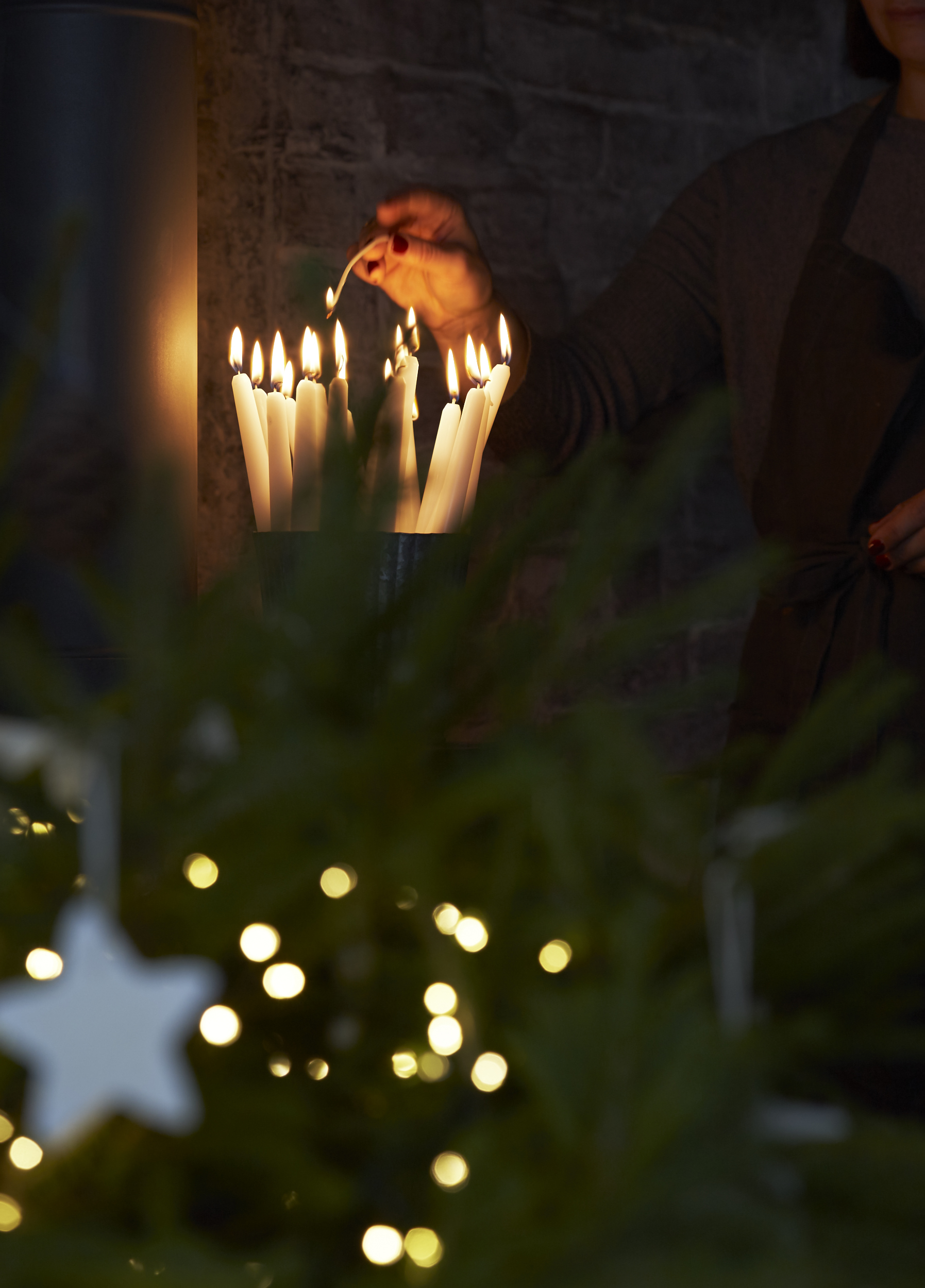 festive atmosphere created by interiors photographer and still life photographer joanna henderson