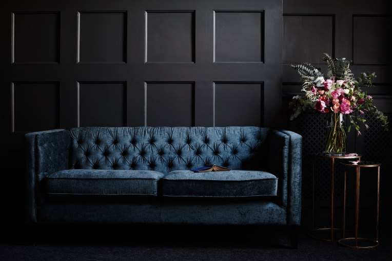 next homewares milano sofa velvet panelling